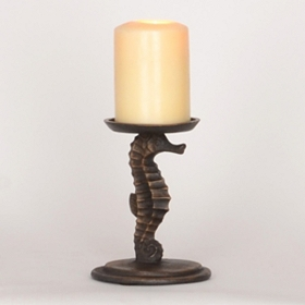 Seahorse Pillar Candle Holder, 6 in.