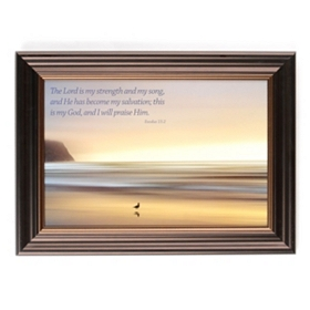 My Strength and Song Framed Art Print