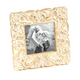 Carved Antiqued Gold Picture Frame, 4x4