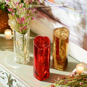 Mercury Glass Heart Vase