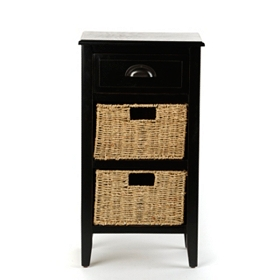 Black 3-Drawer Storage Chest