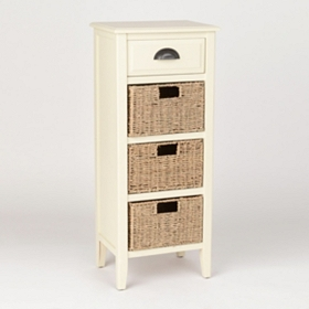 Cream 4-Drawer Storage Chest