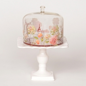 Romantic Notions Cake Stand with Cover