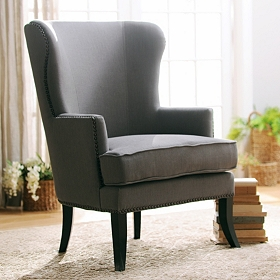Parker Gray Wing Chair