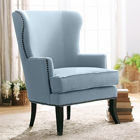 Parker Blue Wing Chair