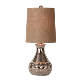 Silver Sparkle Mini Table Lamp
