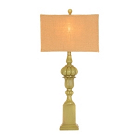 Antiqued Green Tulip Table Lamp