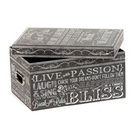 Chalkboard Art Storage Box, Medium