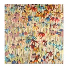 Echinacea Rainbow Canvas Art Print