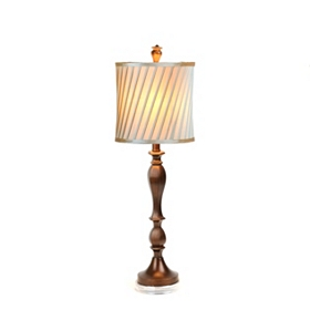 Blue Twist Table Lamp