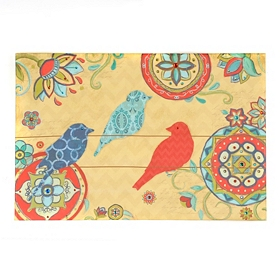 Jeweled Birds Canvas Art Print