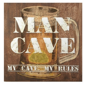 My Cave, My Rules Canvas Art Print