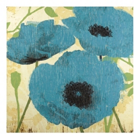 Blue Poppy Canvas Art Print
