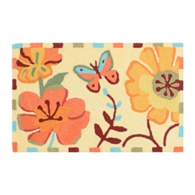 Fluttering Butterfly Accent Rug