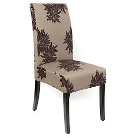 Brown Floral Valencia Parsons Chair