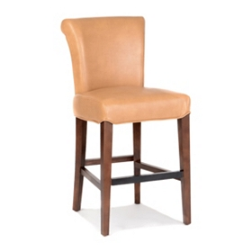 Bentley Caramel Bonded Leather Counter Stool