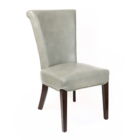 Bentley Gray Bonded Leather Accent Chair