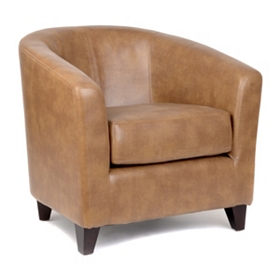 Hayden Tan Bonded Leather Tub Chair