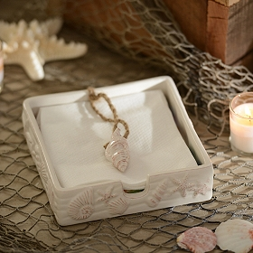Ceramic Seashell Napkin Holder