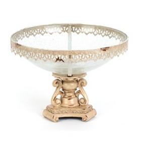Ivory Metal Fringe Bowl