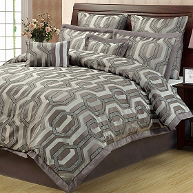 Hexagon 8-pc. Queen Comforter Set