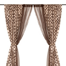 Charlize Taupe 6-piece Curtain Panel Set