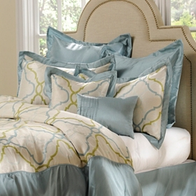 Blue Grand Manor 8-pc. Queen Comforter Set