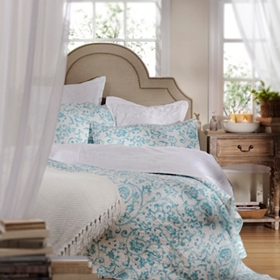 Aqua Scroll 3-pc. King Quilt Set