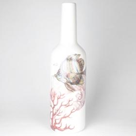 Coastal Envy Dolomite Bottle with Fish, 21 in.