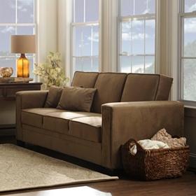 Sabrina Serta Khaki Convertible Storage Sofa