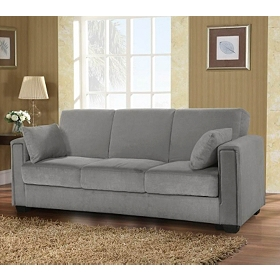 Sabrina Serta Pewter Convertible Storage Sofa