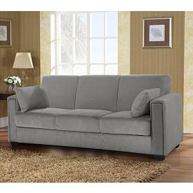 Sabrina Serta Pewter Convertible Storage Sofa