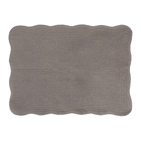 Quilted Gray Bath Mat