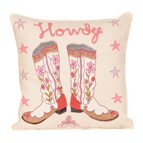 Pink Howdy Pillow