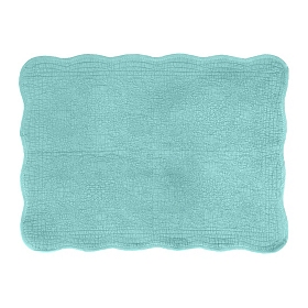 Quilted Seafoam Green Bath Mat