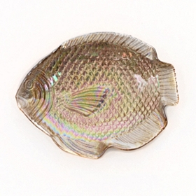 Small Metallic Fish Bowl