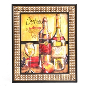 Wine and Fruit II Framed Art Print