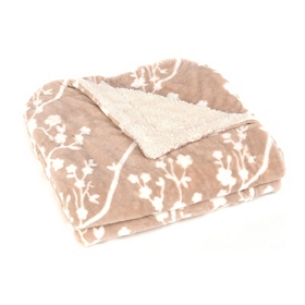 Cherry Blossom Velvet Berber Throw Blanket