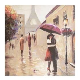Parisian Couple Canvas Art Print