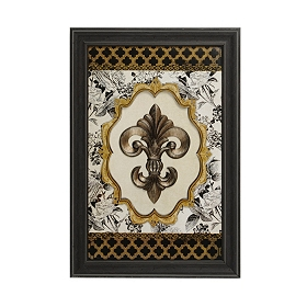 Royal Fleur-de-lis Medallion Shadowbox