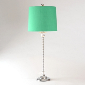 Chrome Bead Buffet Lamp