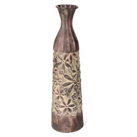 Floral Bottle Vase, 26 in.