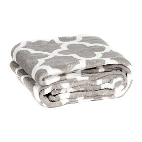 Gray Quatrefoil Oversized Throw Blanket
