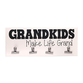 White Grandkids Make Life Grand Wall Plaque