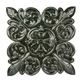 Emerald Scroll Metal Tile