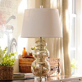 Silver Curves Table Lamp